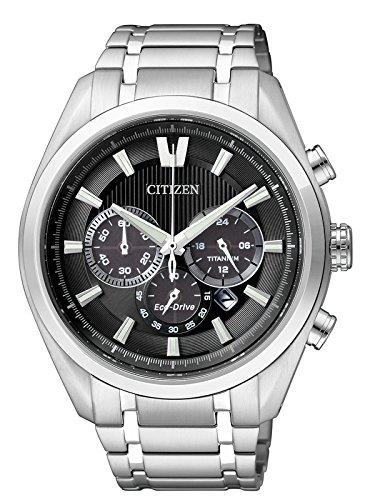 Citizen Reloj Analógico para Hombre de Cuarzo con Correa en Titanio CA4010-58E