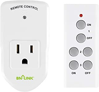 BN-LINK Wireless Remote Control Electrical Outlet Switch for Lights, Fans, Christmas Lights, Small Appliance, Long Range White 10A/1200W (1 Pack)