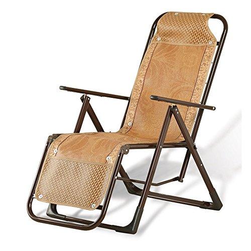 Chaises pliantes Xiaolin Balcon Recliner Bambou Chaise Bureau Déjeuner Pause Chaise Chaise Extérieure (Couleur : 02)