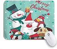 NINEHASA 可愛いマウスパッド クリスマス雪だるまサンタクロースエルフトナカイアライグマキツネウサギオウルベア ノンスリップゴムバッキングコンピューターマウスパッドノートブックマウスマット