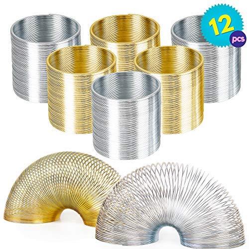Paquete De 12 Muelles Juguete De Metal | Espiral Springy Juguete Perfecto Para Regalos De Fiestas, Rellenos De Bolsas, Premios De Juegos Y Recompensas De Clases
