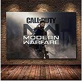 Call of Duty Modern Warfare Wall Art Canvas Poster y Print Canvas Painting Imagen decorativa para el dormitorio Decoración del hogar -60x90cm Sin marco