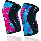 Rodilleras BANBROKEN (2 unds) - 5mm Knee Sleeves - Gimnasio, Deporte Funcional, Crossfit, Levantamiento de Pesas, Running y Otros Deportes. 1 PAR - Unisex. (Purple, M)