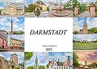 Darmstadt Stadtansichten (Tischkalender 2022 DIN A5 quer): Es erwarten Sie einmalig wunderschoene Aufnahmen von Darmstadt (Monatskalender, 14 Seiten )