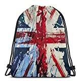 BXBX Plegable Drawstring Backpack Bag Sport Gym Sackpack Cinch Bag for School Yoga Gym Swimming Travel Unisex - Union Jack