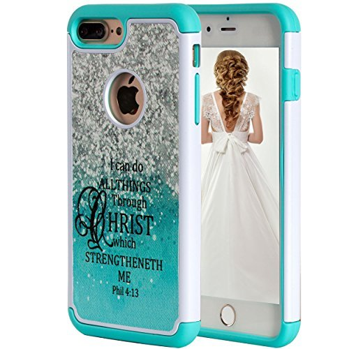iPhone 8 Plus Case Bible Verse,iPhone 7 Plus Case,SKYFREE Christian Quotes Philippians 4-13 [Shock Absorption] Hybrid Dual Layer Heavy Duty Protective Case Cover for Apple iPhone 7 Plus /iPhone 8 Plus