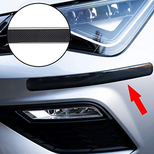 Autodomy Protector Bumper Parachoques Paragolpes Delantero y Trasero Universal Adhesivo Pack 2 Unidades para Coche (Carbono)