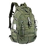 LHI Sac à dos tactique militaire pour homme 35 L 45 L avec réflecteur Molle, mixte adulte, Vert militaire 35 l, 35L