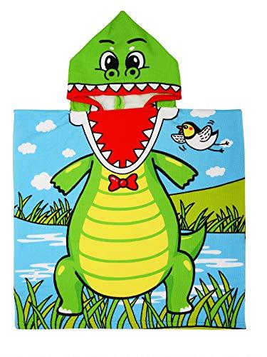 Century Star Kids Towels Hooded Bath Beach Towel Girls Boys Swim Pool Cover Up Super Absorbent Cute Cartoon Animal Sea Crocodile One Size