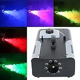 Tengchang 1500W Smoke Fog Machine RGB 9 LED DJ Party Stage Light Wireless Remote Controller