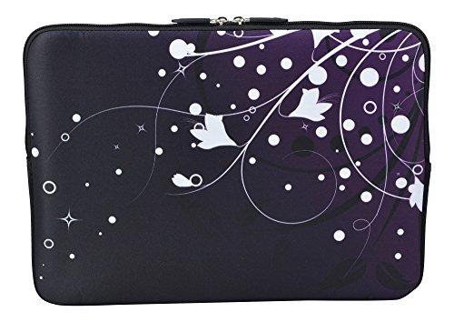 MySleeveDesign Laptoptasche Notebooktasche Sleeve für 10,2 Zoll / 11,6-12,1 Zoll / 13,3 Zoll / 14 Zoll / 15,6 Zoll / 17,3 Zoll - Neopren Schutzhülle mit VERSCH. Designs - White Flowers [10]