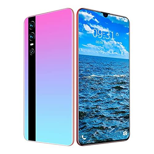 HMHMVM Teléfono móvil Y47, 4GB + 64GB, 6.3 Pulgadas HD + Pantalla de Gota de Agua, 13MP + 24MP, Smartphone 4G con Doble SIM, Desbloqueo Facial con Huella Digital Android 9.0,Rosado