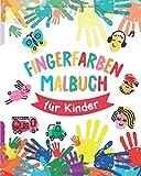 Fingerfarben Malbuch: Vorlagen für Fingermalfarben für Kinder - Fingerfarben Vorlagen Malbuch für Kinder ab 2 - Basteln mit Kleinkindern ab 2 - Tolle ... Mitgebsel Kindergeburtstag und Gastgeschenke