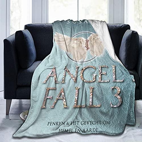 Le Règne des anges Mystery Penryn Young Raffe Susan Ee - Manta de forro polar con tapa dura, 127 x 101 cm