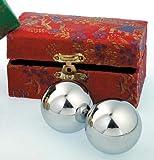 Qi-Gong Meditation Kugeln - Silberfarben -