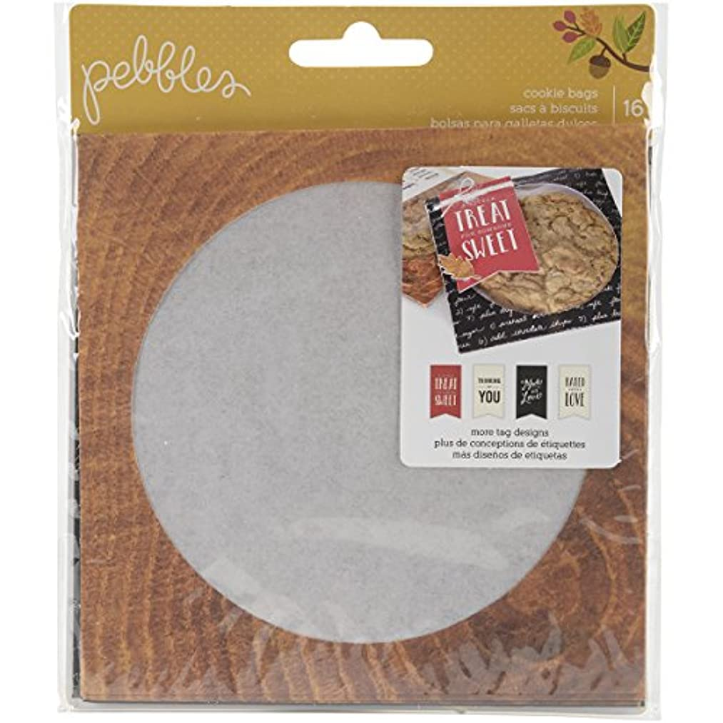 American Crafts 16 Piece Pebbles Harvest Embellishments Cookie Bags
