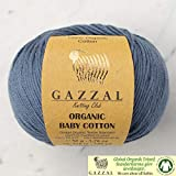 5 ovillos (paquete) Gazzal orgánico bebé algodón hilo, total 8.8 oz. 100%...
