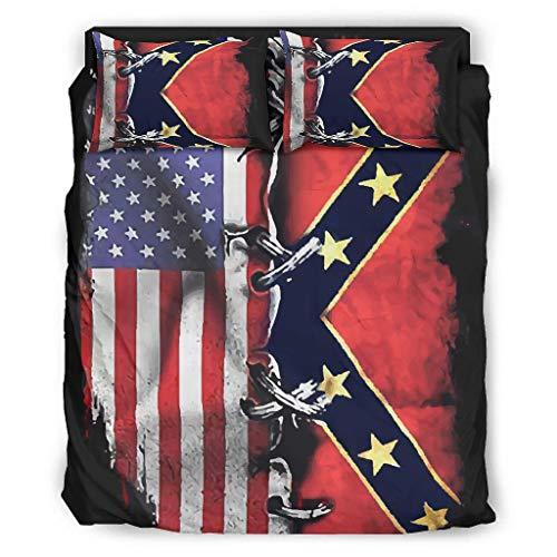 Four-piece Bed Set Printed Usa Flag luxurious Duvet Cover Set Bed Sheet Horrifying Christmas Duvet Cover white 228x264cm