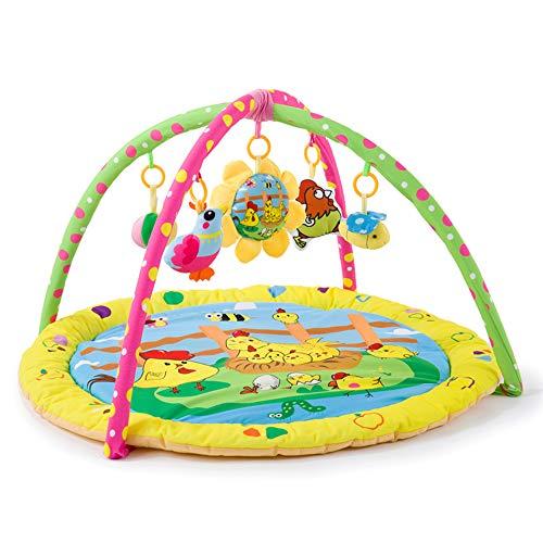 PUDDINGT® Couverture Aventure Bébé Tapis de Jeu avec Toy Toy Bow et Design Activité Couverture bébé 90 cm