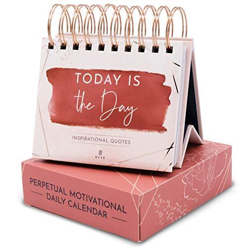 RYVE Motivational Calendar - Daily Flip Calendar with Inspirational Quotes - Inspirational Desk Decor for Women, Office Decor for Women Desk, Inspirational Gifts for Women, Desk Accessories for Women