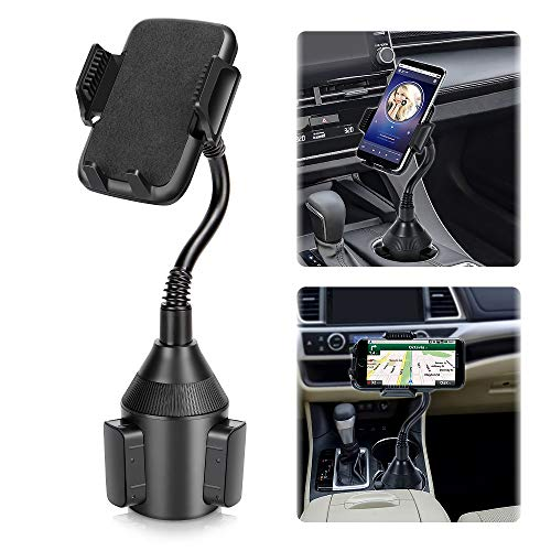 Car Phone Mount,Universal Smart Phone Adjustable Automobile Cup Holder Phones Mount for iPhone 11 pro/Xs/Max/X/XR/8/7/6 Plus Samsung Galaxy S10/S9/S8 Note 9 Nexus Sony、HTC、Huawei、LG and All Smartphone
