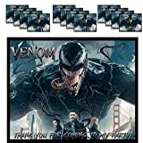 Venom Stickers Party Favors Supplies Decorations Gift Bag Label Stickers ONLY 3.75' x 4.75' -12 pcs Marvel Comics Anti-Hero Eddie Brock