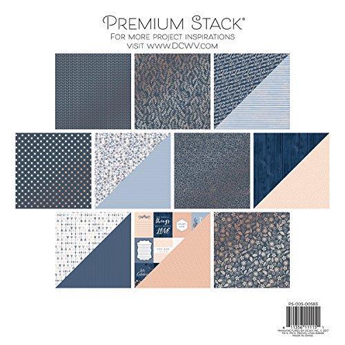 American Crafts DCWV doppelseitig Papier Stack, Mehrfarbig, 29,21x 31,75x 1,01cm, Mehrfarbig, 30.73 x 32.25 x 0.68 cm
