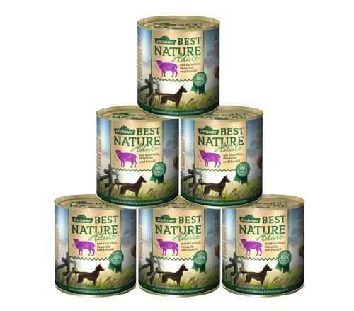 Dehner Best Nature hondenvoer, volwassenen lam en aardappelen met peterselie, Lams en aardappelen met peterselie, 6 x 800 g