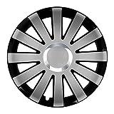 Eight Tec Handelsagentur (Farbe und Größe wählbar!) 16 Zoll Radkappen Onyx (Schwarz-Silber) passend für Fast alle Fahrzeugtypen (universell) - vom Radkappen König