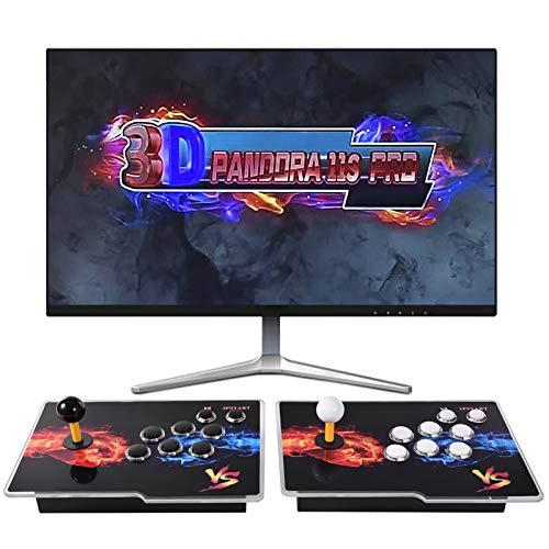 [3399 Spiele in 1] 3D Retro Arcade-Videospielkonsole, 11S Full HD-Multiplayer-Heim-Joystick Arcade-Konsole mit zwei Separaten Joysticks, Büchse der Pandora Kompatibel mit für PC / Laptop / TV / PS3