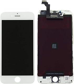 شاشة كاملة خارجية و داخلية لون ابيض لاجهزة ايفون 6 بلس ، ابيض