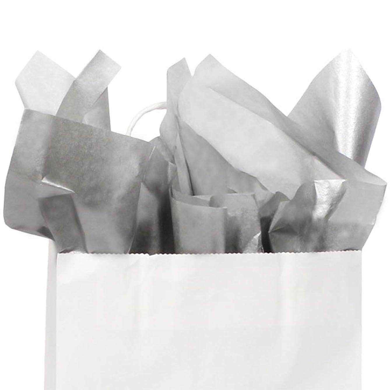 UNIQOOO 60 Sheets Premium Metallic Sliver Gift Tissue Paper Wrap Bulk, 20