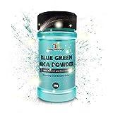 MENNYO Pigmento para Resina Epoxi, Colorante Jabones 50g Color Verde Azul Mica en Polvos Metálico Natural para Kit Hacer Velas, Fabrica Slime, Pintura, Sombra de Ojos, Maquillaje, Esmalte de Uñas