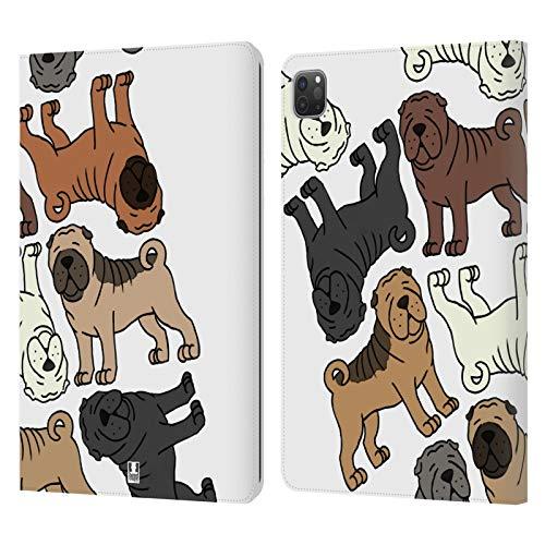 Head Case Designs Shar Pei Chino Patrones de Raza de Perro 4 Carcasa de Cuero Tipo Libro Compatible con Apple iPad Pro 11 (2020/2021)