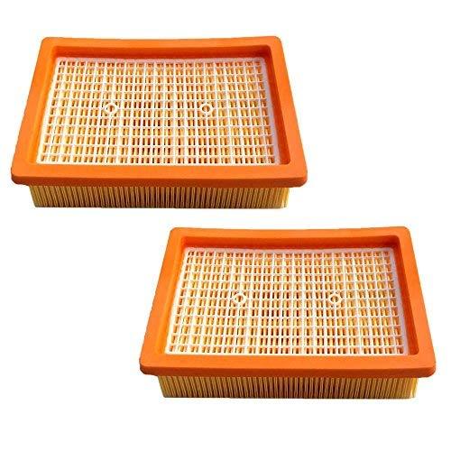 2x HEPA Filter für Kärcher MV4 MV5 MV6 WD4 WD5 WD6 Staubsauger Flachfalten Filter Ersetzt 2.863-005.0/28630050