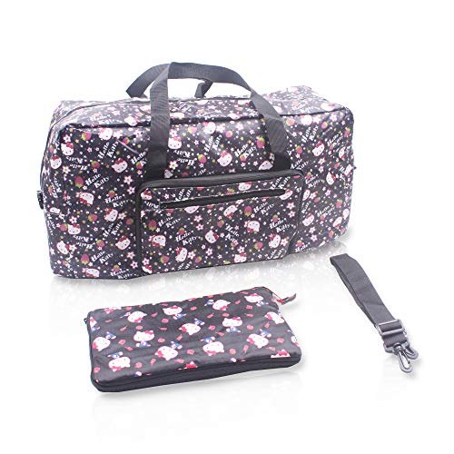 Finex Hello Kitty Foldable Easy-to-carry Travel Bag with adjustable strap - Random Black