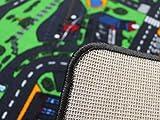 Spielteppich Autoteppich Straßenteppich City - 95x200 cm, Anti-Schmutz-Schicht, Auto-Spielteppich für Mädchen & Jungen, Kinderteppich Strasse Fußbodenheizung geeignet - 5