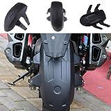 オートバイリアフェンダーマッドガード水バッフルホイールハガー交換取付 btacket 、ユニバーサルフィット、黒 #001