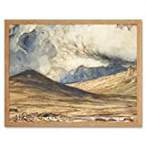 Huet Mountains of Auvergne Painting Art Print Framed Poster