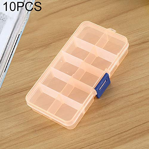 QICHENGBIN Mini Coffret à Bijoux Grille Amovible 10 Machines à sous boîte en Plastique Organisateur, for Les Bijoux Boucle d'oreille Hameçon Petit Accessoires (10 PCS) (Color : Color2)