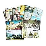 lliang Tarjeta de Felicitación 20pcs / Paquete Torre Torre Postales envió una Tarjeta de felicitación Set Classic Movie Posters Postal Office Suplementos Escolares