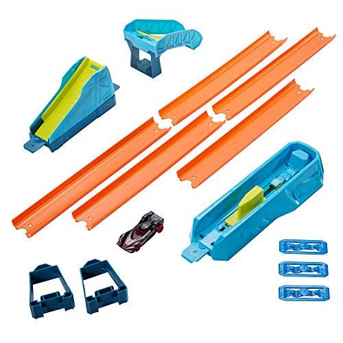 Hot Wheels GLC89 - Track Builder Unlimited Weitsprung Set Zubehörteile, Spielzeug ab 6 Jahren
