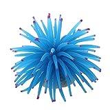 CUHAWUDBA Planta Decoracion Artificial Anemona Plastico Blando Acuario Pecera Color Azul
