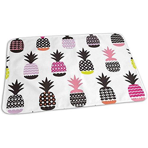 Tapis A Langer,Pineapple Fruit Summer Beach Funny Élégant Couches À Langer Pour Les Enfants Jouent À La Poussette 65cmx80cm