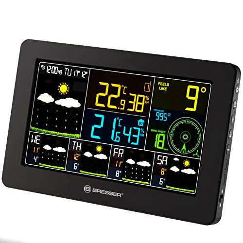 Bresser Wetterstation Funk mit Aussensensor WLAN 4CAST mit 4-Tages Wettervorhersage und weiteren meteorologischen Daten