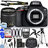 Nikon D3500 DSLR Camera with 18-55mm VR Lens 1590 - Pro Bundle Includes: Extra Battery and Charger, Ultra 32GB SD, Flash, Filter Kit, Tripods, Gadget Bag and More