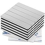 30 Pieza Imanes de Neodimio, Fuerte N52 50x10x3 mm, Ultra Fuertes Rectángulo Imán con Película Adhesiva de 3M, para la Cocina, Refrigerador, Pizarra Blanca