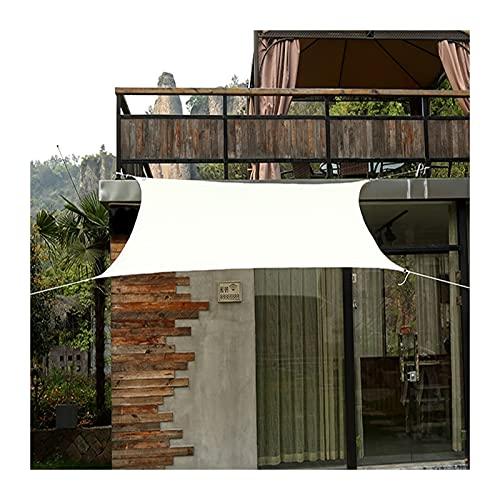 GuoWei Toldo Vela De Sombra, Jardín De La Terraza 95% UV Bloque Protector Solar, Toldo Impermeable Rectangular para Acampar Al Aire Libre, 17 Tamaño (Color : White, Size : 3x3m)