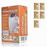 Happyplast Parches térmicos XXL en juego de 5 unidades, 14,5 cm x 10 cm, autoadhesivos, flexibles y duraderos, hasta 8 horas, con 2 almohadillas de calor, 100% naturales para cuello y espalda