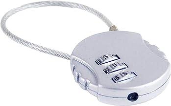Cijferslot, hangslot van verzinkt staal, veiligheidsslot met 3-cijferige cijfercode 45 mm.